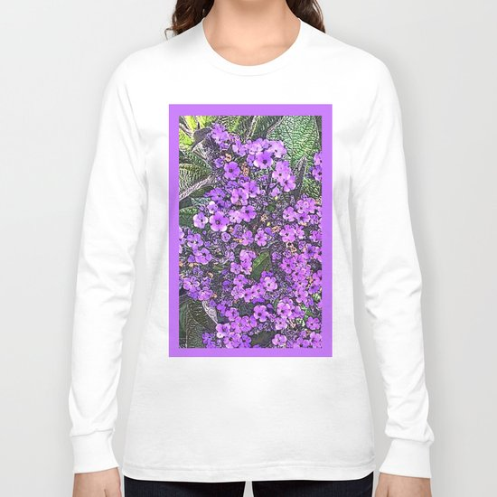 Spring floral blossom in lilac and green Long Sleeve T-shirt