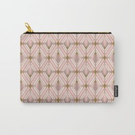 Jaime's Blush and Gold Diamonds Carry-All Pouch