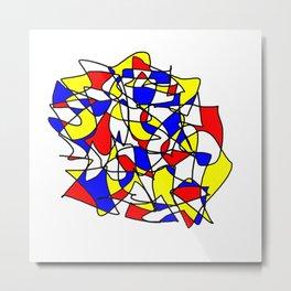 Mondrian Sneeze Metal Print