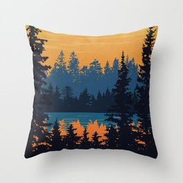 Algonquin Park Poster Throw Pillow