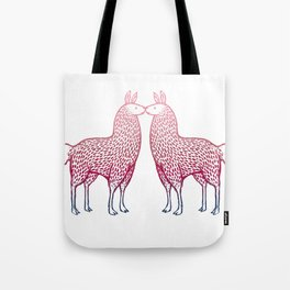 Llamas Kissing Tote Bag