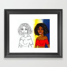 Curly Girl Framed Art Print