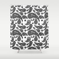paisley Shower Curtains featuring Paisley  by guissëpi