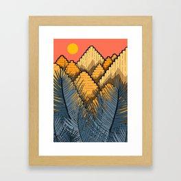 Pyramid Mountains Framed Art Print