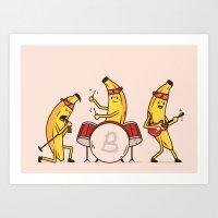 Bandana Banana Band Art Print