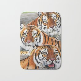 Texas Tiger Trio Bath Mat
