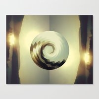 wave Canvas Prints featuring Wave by matt market