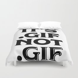 .gif not .gif (Regina Black Edition) Duvet Cover
