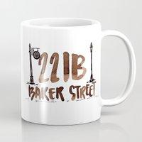 221b Mugs featuring 221B Baker Street by AliceInWonderbookland