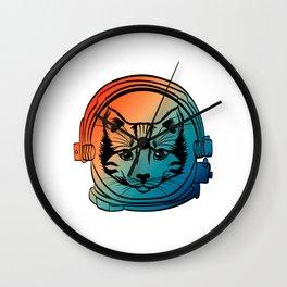 Are You A Fan Of Astronomy? An Astronaut Dreamer? Here's A Gradient Cat Antronaut T-shirt Kitten Wall Clock