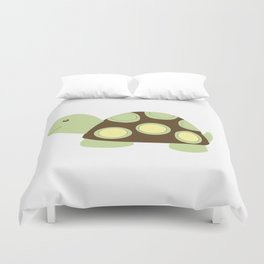Green and Brown Mod Dot Turtle Duvet Cover