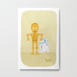 C3PO and R2D2 Metal Print