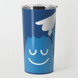 A Friendly Mountain Greeting Travel Mug