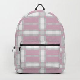 FLANNEL soft pink and white plaid pattern Backpack