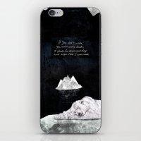 polar bear iPhone & iPod Skins featuring Polar Bear by Sandra Dieckmann