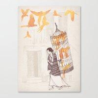 frida Canvas Prints featuring Frida by David Fleck