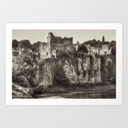 Castle on the Cliff Art Print