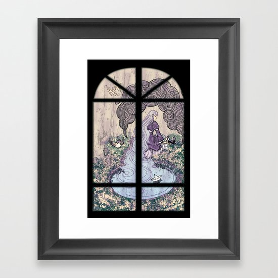 Rain Mage Framed Art Print