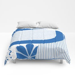 the big blue Comforters