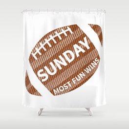 Sunday Funday Shower Curtain