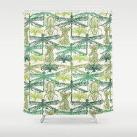 insects Shower Curtains featuring Insects by nkpappas