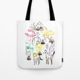 Pegasus in the forest Tote Bag