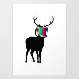 Deer TV Art Print