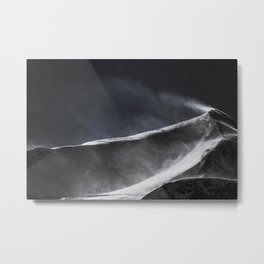 The Blustery Peak Metal Print