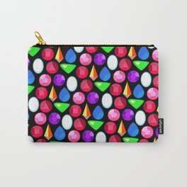 Gems Repeating Pattern Carry-All Pouch