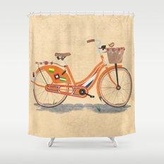 Love Holland, Love Bike Shower Curtain