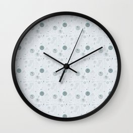 Autumn Rain Wall Clock