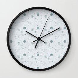 Autumn Rain Wall Clock