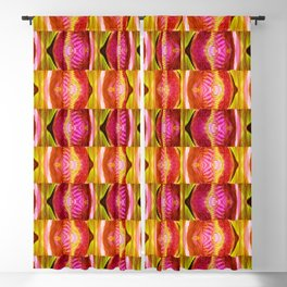 Abstract Warm Pattern Blackout Curtain