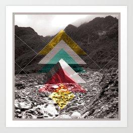 Sojourn series - Fox Glacier  Art Print