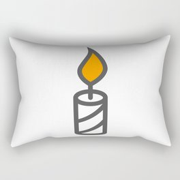 Candle in Design Fashion Modern Style Illustration Rectangular Pillow