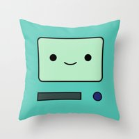 bmo Throw Pillows featuring BMO by Expired Kimchi