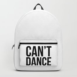 Can't Dance. Backpack