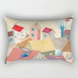 Les fenêtres magiques Rectangular Pillow