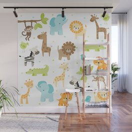 Jungle Animals Wall Mural