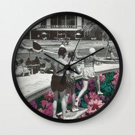 Floral Pool Wall Clock