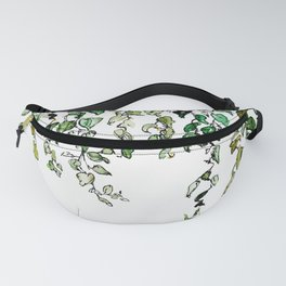 Hanging leaves - watercolor Fanny Pack