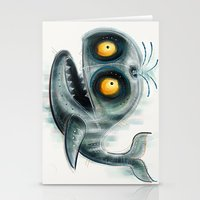 the whale Stationery Cards featuring Whale by Riccardo Pertici