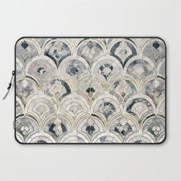Monochrome Art Deco Marble Tiles Laptop Sleeve