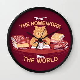 First the homework, then the world Wall Clock