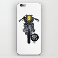 cafe racer iPhone & iPod Skins featuring Moto - cafe racer by dareba