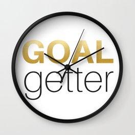 goal getter Wall Clock