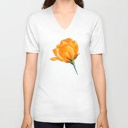 Orange Rose Unisex V-Neck