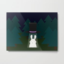The abduction of Mr. Rabbitson Metal Print