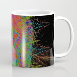 Visionary Flame II (abstract, psychedelic, trippy, psyart, meditation) Coffee Mug