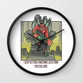 Satan Satanic Santa Claus Christmas Devil Gothic Occult Goth Wall Clock